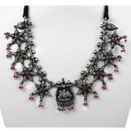 Designer GajaLakshmi Necklace in pure silver