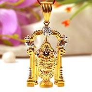 Tirupati Balaji Locket in Pure Gold - 6.17 gms
