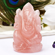 Rose Quartz Ganesha - 100 gms