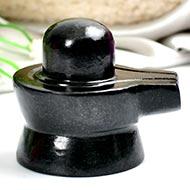 Shivlinga in Black Jade - 139 gms