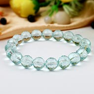 Aquamarine Faceted bracelet - 10 mm