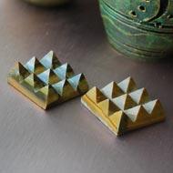Tiger Eye 9 Pyramid grid - Set of 2