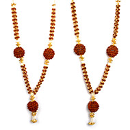Rudraksha Beads Deity Garland - Set of 2 - II