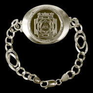 Ganesh Yantra Silver bracelet