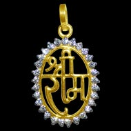 Shree Ram Locket in Pure Gold - Design I