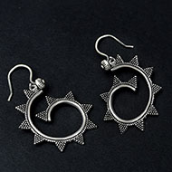 Earrings in pure silver - 8.56 gms