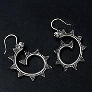 Earrings in pure silver - 8.56 gms