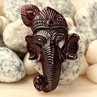 Ganesha Mukha in Gomedh  - 90.85 Carats