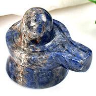 Blue Sodalite Shivling - 67 gms