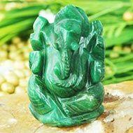 Ganesha in Budd Stone - 88 gms - Right Trunk