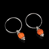 Rudraksha Earrings Set - XI