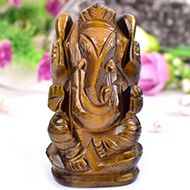 Tiger Eye Ganesha - 170 gms