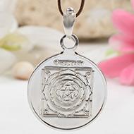 Mahamrityunjaya Yantra Locket - Silver - Large