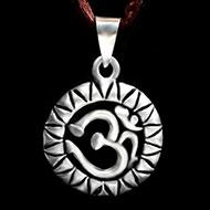 Om Locket in Pure Silver - Design V