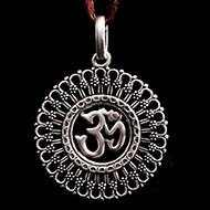 Om Locket in Pure Silver - 10.45 gms