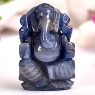 Ganesha in Blue Sapphire - 81.55 carats