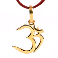 Om Locket in Pure Gold - Design IX