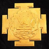 Siddh Meru Shree Yantra - Gold Polish