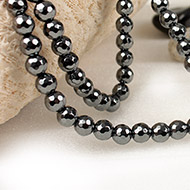 Hematite Faceted Mala - 8 mm