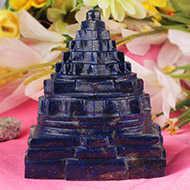 Lapis Lazuli Shree Yantra - 445 gms