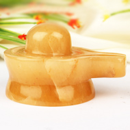 Yellow Jade Shivling - 275 gm