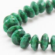 Green emerald beads mala