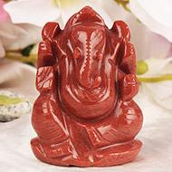 Red Jade Ganesha - 116 gms