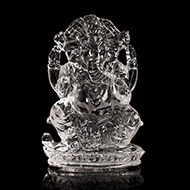 Ganesh Idol in pure quartz - 20 gms - I