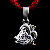 Om Shiva Locket in Pure Silver - Design I