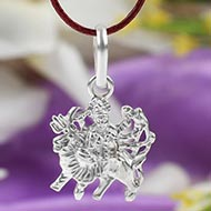 Durga Locket in pure silver - Design VI