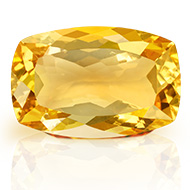 Yellow Citrine - 11.95 carats - Cushion