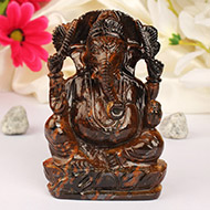 Tiger Eye Ganesha - 380 gm