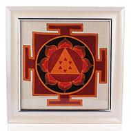 Ganesh Yantra on silk with frame