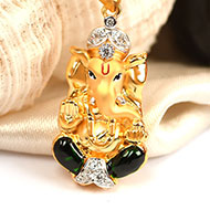 Ganesh Pendant in Gold - 3.48 gms