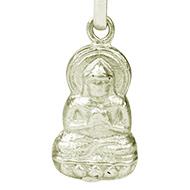 Buddha Locket in Pure Silver - Design III