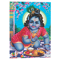 Lord Bal Krishna Photo - Medium