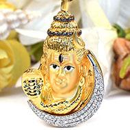 Shiva Pendant in Gold - 7.17 gms