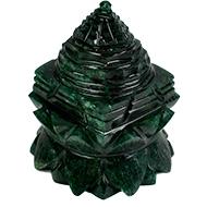 Green Jade Shree Yantra on Lotus - 174 gms