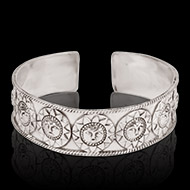 Surya Bracelet in pure silver - Design I