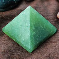 Light Green Jade Pyramid