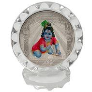 Bal Krishna Silver Frame