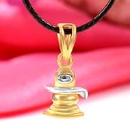 Shivling Locket in Pure Gold