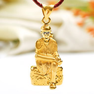 Saibaba Locket in Pure Gold - 2.33 gms