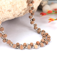 Sandalwood mala in silver