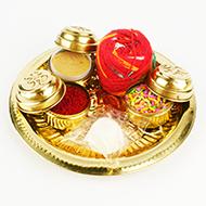 Puja Thali in brass