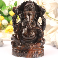 Tiger Eye Ganesha - 931 gms