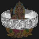 Ganesh Kada in pure silver - Design III