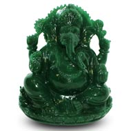 Ganesha in Columbian Green Jade  - 1.111 Kg