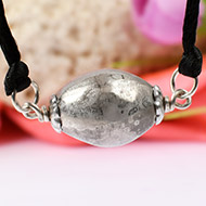 Lingam shape Parad Gutika Pendant with Silver capping - 22 to 24mm
