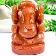 Red Jade Ganesha - 289 gms